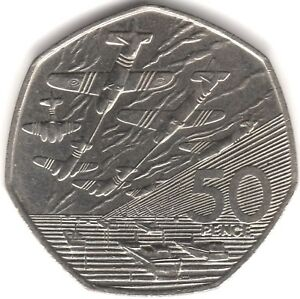 1994-Elizabeth-II-D-Day-50p-Fifty-Pence-British-Coins-Pennies2Pounds