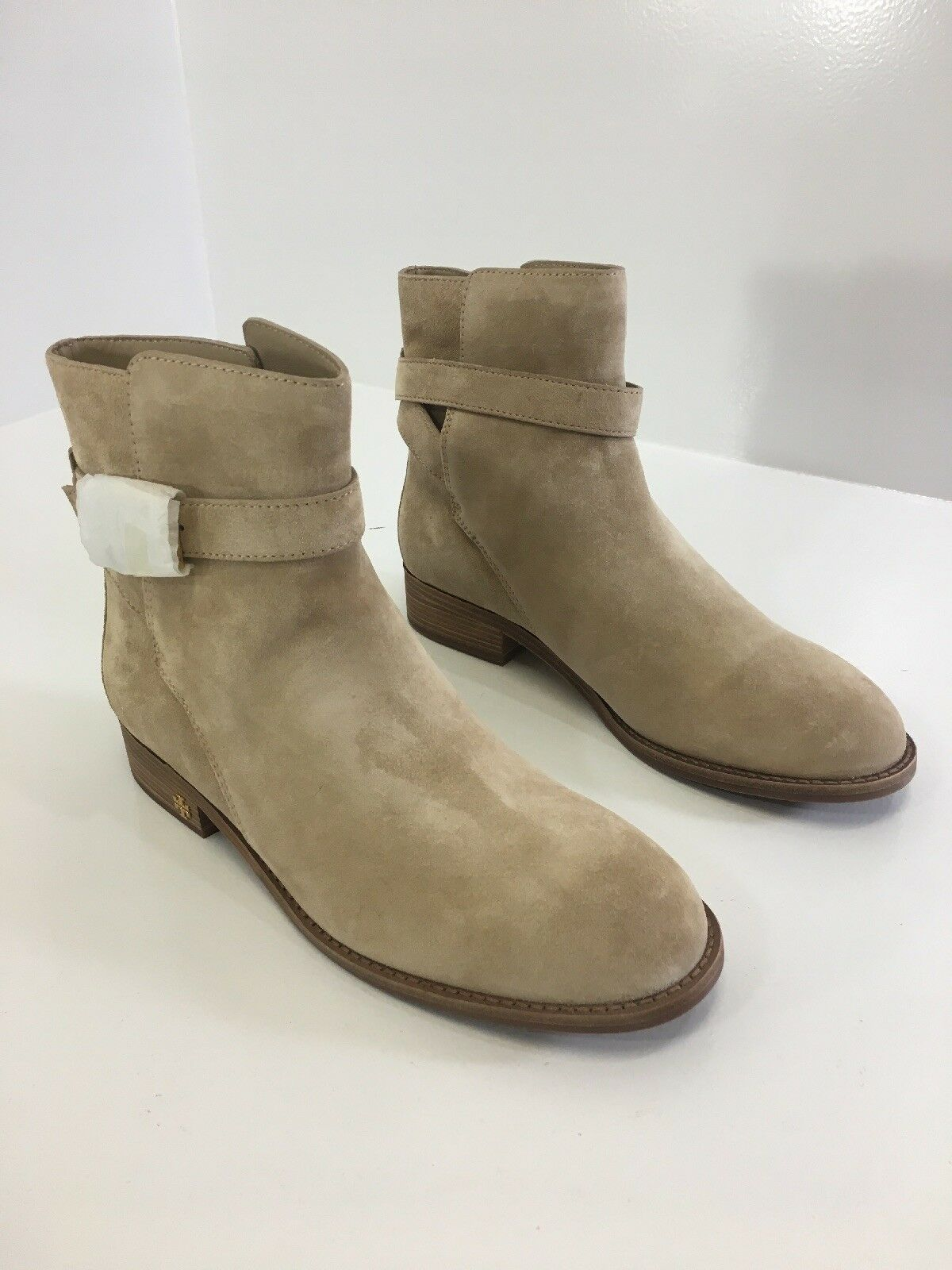 TORY BURCH WOMENS BROOKE SUEDE ANKLE BOOTS BOOTS BOOTS MOCHA CREAM 9.5 NEW 8c41a4