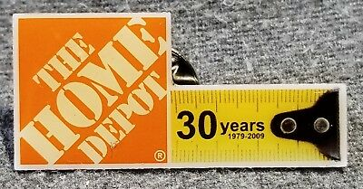 LMH PINBACK Pin  2008 HOME DEPOT 30 Year Anniversary Employee Insignia Tape
