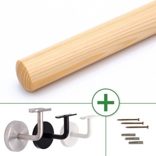 Holzhandlauf Fichte Ø 42mm lackiert 3mm Fase Wandhandlauf Geländer Handlauf