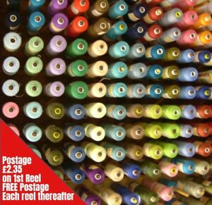 Sewing-Machine-Thread-1000m-Spool-Polyester-Choice-of-Colours-Top-Quality-120