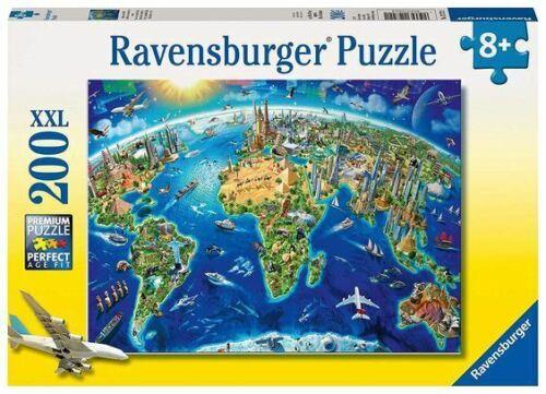 World Landmarks Map Ravensburger Jigsaw Puzzle 200 XXL Pieces 12722 New
