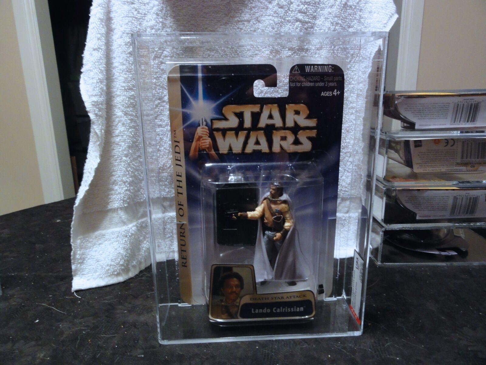 Star - wars - 2004 star wars rotj Gold lando todesstern afa versiegelt mib - box