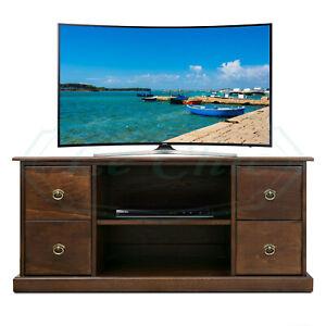Porta Tv Classico Noce.Dettagli Su Mobile Basso Porta Tv In Legno Stile Classico Finitura Noce Varie Misure
