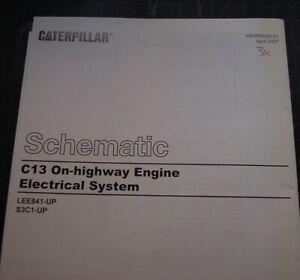 CATERPILLAR C13 Truck Engine Electrical Wiring Schematic Service Manual  repair | eBayeBay