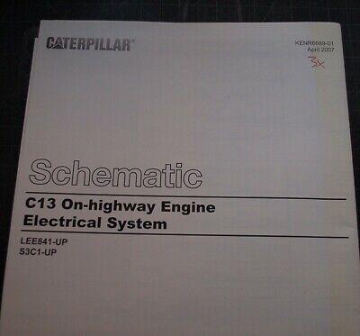 CATERPILLAR C13 Truck Engine Electrical Wiring Schematic Service Manual Repair EBay