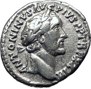 ANTONINUS-PIUS-156AD-Rome-Authentic-Ancient-Silver-Roman-Coin-SALUS-i70308