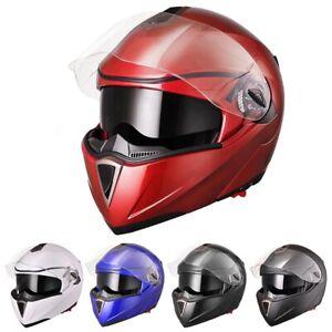 DOT-Motorcycle-Helmet-Flip-up-Modular-Motocross-Helmets-Off-Road-Full-Face-Size