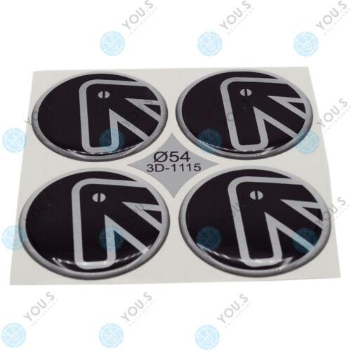 4 x you s tapacubos de silicona pegatinas 54,0 mm-negro plata logotipo de flecha