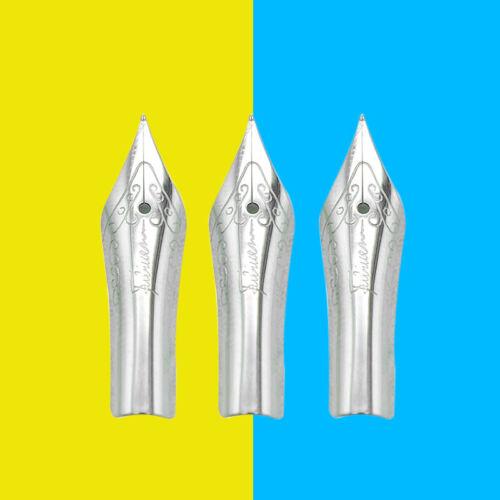 3Pcs Replacement 0.38//0.5//0.7mm Fountain Pen Nibs Iridium Nib For Fuliwen 015
