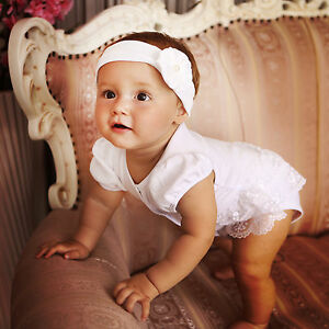 d234dc206cf5 Image is loading Baby-Girl-Bodysuit-Newborn-Clothes-Baptism-Baby-Girl-