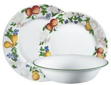 "CORELLE 18-pc CHUTNEY DINNERWARE SET Fruit Orchard *NEW Wide Rim Style NO Swirl"""