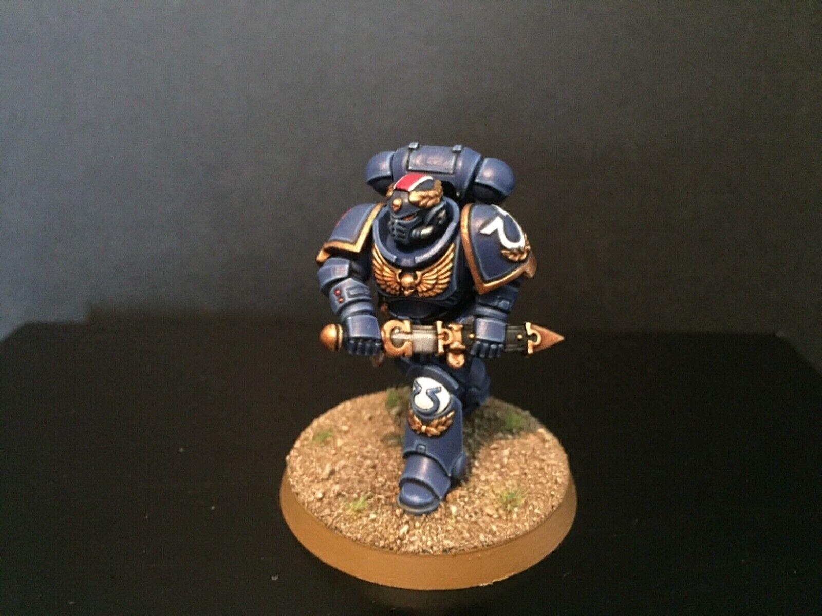 Warhammer 40k Conquest Lieutenant Calsius Well Painted GW Primaris Space Marine