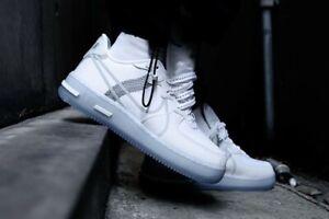 NEW WITH BOX Nike Air Force 1 React QS White Light Bone CQ8879-100 ...