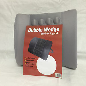 Protech Car seat Cushion Lumbar back support bubble wedge 1pc Gray