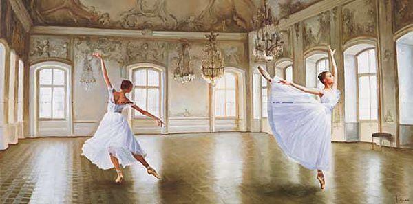 Pierre Benson  Le Grand Salon Keilrahmen-Bild Leinwand Ballett Mädchen Tanz