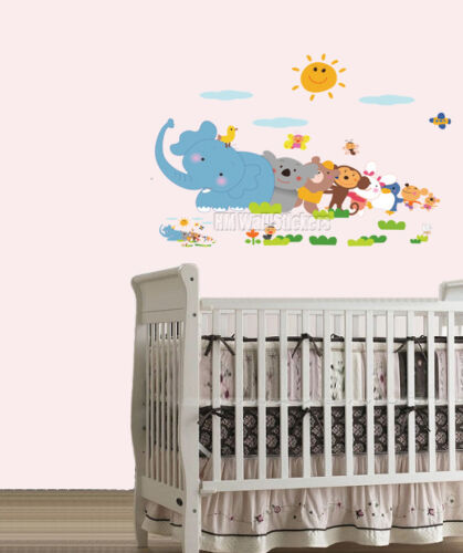 CUTE ANIMALS QUEUE Kids Wall sticker for Kids room or Nursery