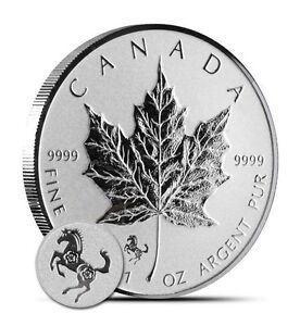 2014-5-Canadian-Maple-Leaf-Horse-Privy-1-oz-9999-Silver-Coin-Reverse-Proof