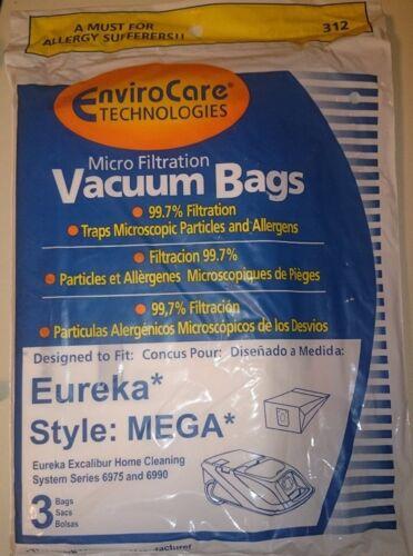 EUREKA 6975 6990-MEGA CANISTER 312 3PK PAPER BAGS