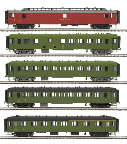 "MTH OCEM SCNF 5-Car Passenger Set for 3 Rail /""O/"" Gauge 20-60026"