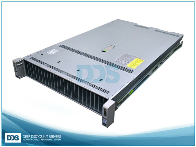 Cisco UCS C240-M4SX 26 SFF (2)E5-2630L v3 8-Core 1 80Ghz 256GB Mem (2)1200W  PSU