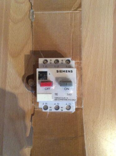 Motorschutzschalter 3VE1010-8H Siemens 2-3,2A Leistungsschalter NEU