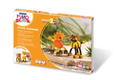 Fimo Kids forma /& Play Crazy Animales Set Lion /& Tiger CRAFT de nivel 3 Arte Divertido 07