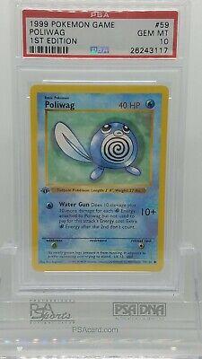 "Pokemon 4th Print 1999-2000 MINT /""U.K./"" Base Set COMMON Poliwag 59//102"
