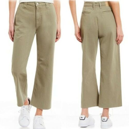 Commune Kyoto Wide Leg Hi Rise Frayed Crop Jeans S