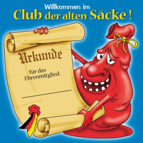 Riesen Schild Club der alten Säcke Riesenschild Urkunde Geburtstag 12622513