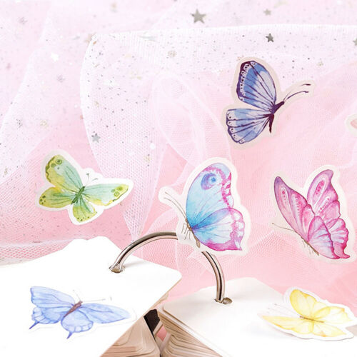 46pcs Butterfly Garden DIY Diary Stickers Paper Lables Gifts Packaging Decor ML