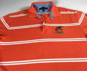 FAMU-Polo-Shirt-Mens-XL-Florida-A-amp-M-Rattlers-Tommy-Hilfiger-Golf-Student-Alumni