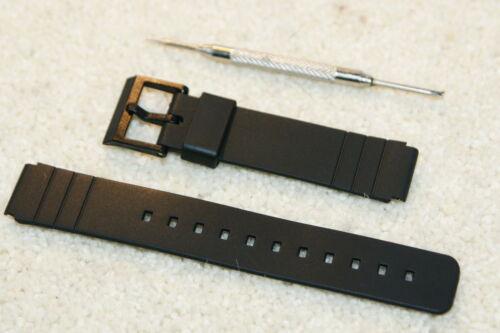 Rubber strap compatible with Casio 16mm AQ42 LDP800 MD712 MQ15W MQ24 MQ77 Tool