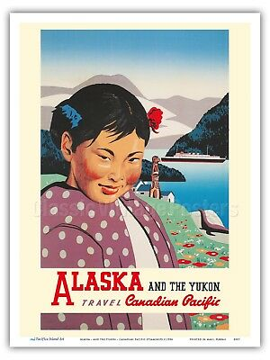 """24x36 1930s /""""This is Alaska/"""" Vintage Style Steamship Line Travel Poster"""