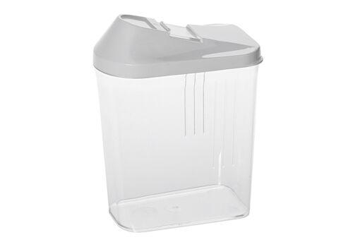 Keeeper Schüttdose weiß 0,75l Vorratsdose mit Schieber Vorrats Dose Kunststoff
