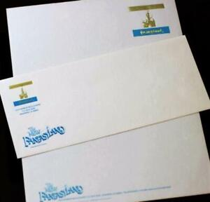 Disneyland-1983-New-Fantasyland-Letterhead-Foil-Embossed-Envelope-Walt-Disney