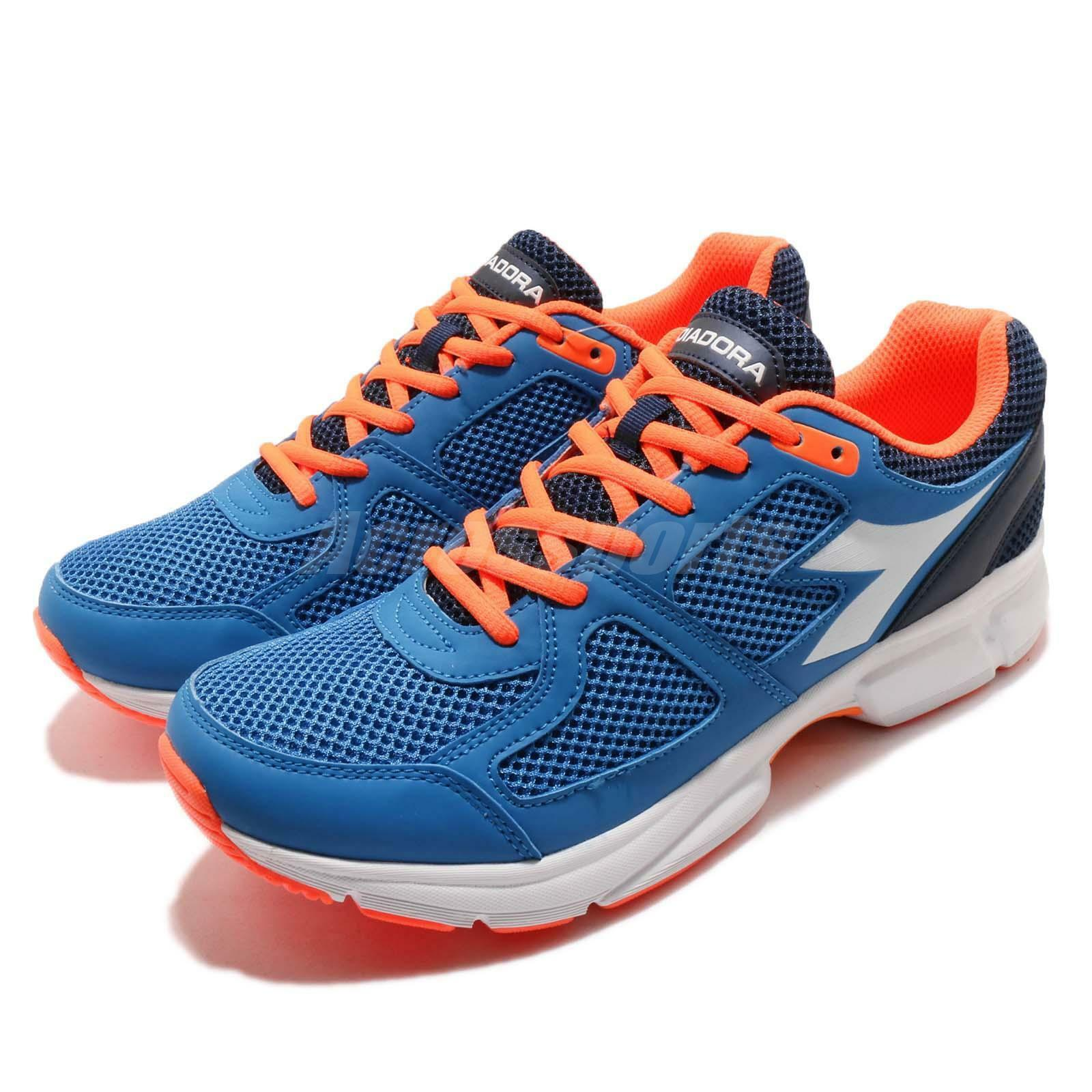 Diadora Shape 8 Blue Orange White Uomo Running Walking Scarpe DA172074-C4415