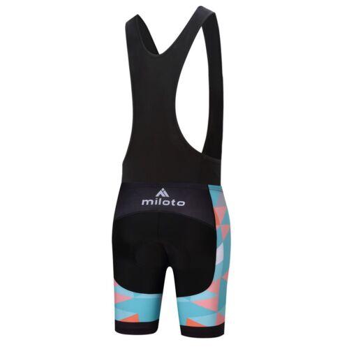 Ladies Cycling Jersey Padded Bib Knicks Women/'s Short Sleeve Cycle Clothing Set