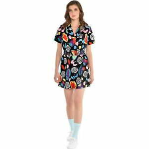 Stranger-Things-Mall-Eleven-Costume-Adult-Size-Colorful-80s-Romper