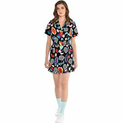 Stranger Things Mall Eleven Costume Adult Size Colorful 80s Romper