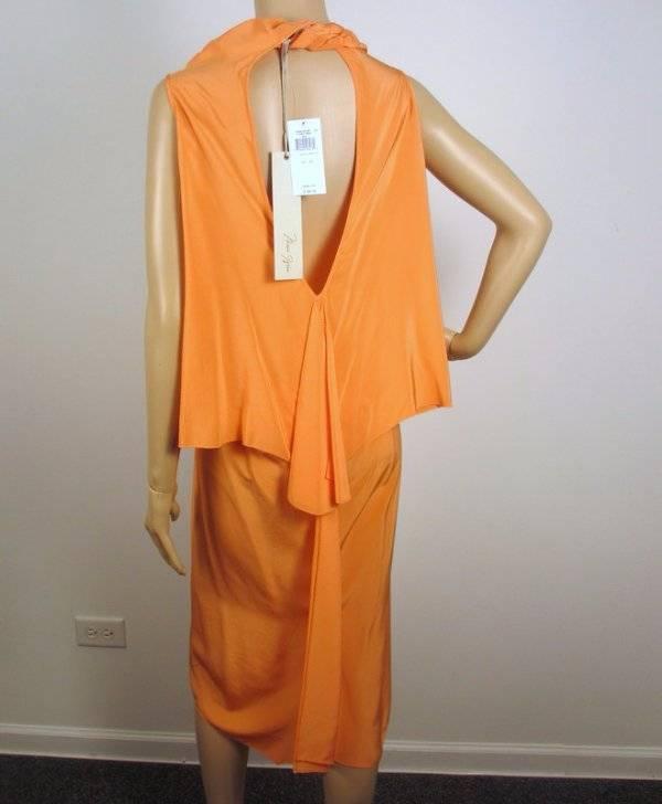 NWT MAX AZRIA by BCBG VERMILION WOVEN SILK DRESS XS