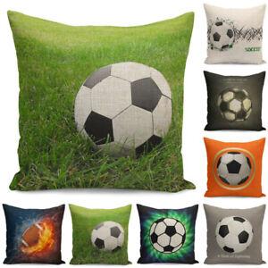 Pillow-Cover-Soccer-Decor-Cushion-Case-Football-Home-18-039-039-Throw