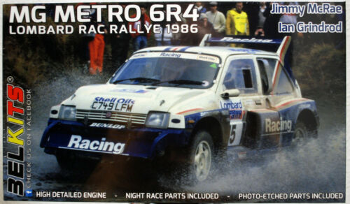 Belkits 016 1986 MG Metro 6R4 Lombard Rallye McRae Grindrod 1:24 neu 2020