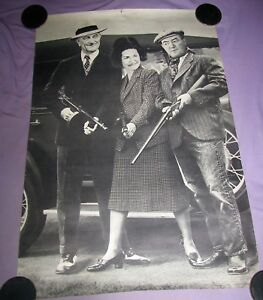 Details about 1968 Bonnie and Clyde LBJ GANGSTER POSTER TOMMY GUN Lyndon &  Lady Bird Johnson