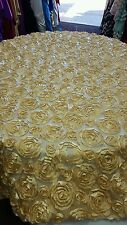 Table Overlay 54 X 54 inches Square Tablecloth Cover Mesh rose Gold