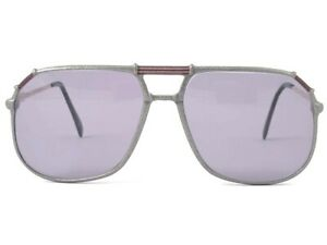 VINTAGE-NEOSTYLE-OVERSIZED-634-METALLIC-SILVER-SUNGLASSES-GERMANY-1970-039-S