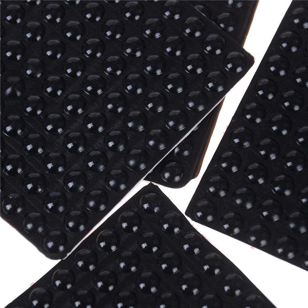 100Pcs Black Self Adhesive Rubber Feet Semicircle Bumpers Door Buffer Pad GN EI