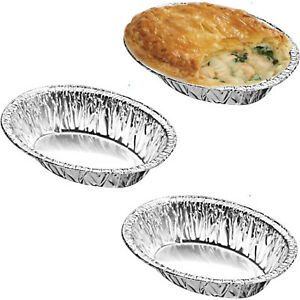 Small-Aluminium-Foil-Dishes-Steak-Pie-Oval-Quiche-30mm-Deep-x-50-Fruit-Baking