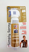 Deval Products 325828 Stencil Spray Opaque Fabric Paint 2.5 Ounces-Gold Glimmer Craft Supplies