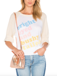 Wildfox damen Clean Weiß Couture Bright Eyed Tee Sz XS 1725